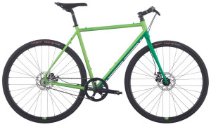 Simple and fun, this is the singlespeed version of the Roper. Still equipped with disc brakes and ready for a rack and fenders. Upgrade to 9 speed next year? Easy.
